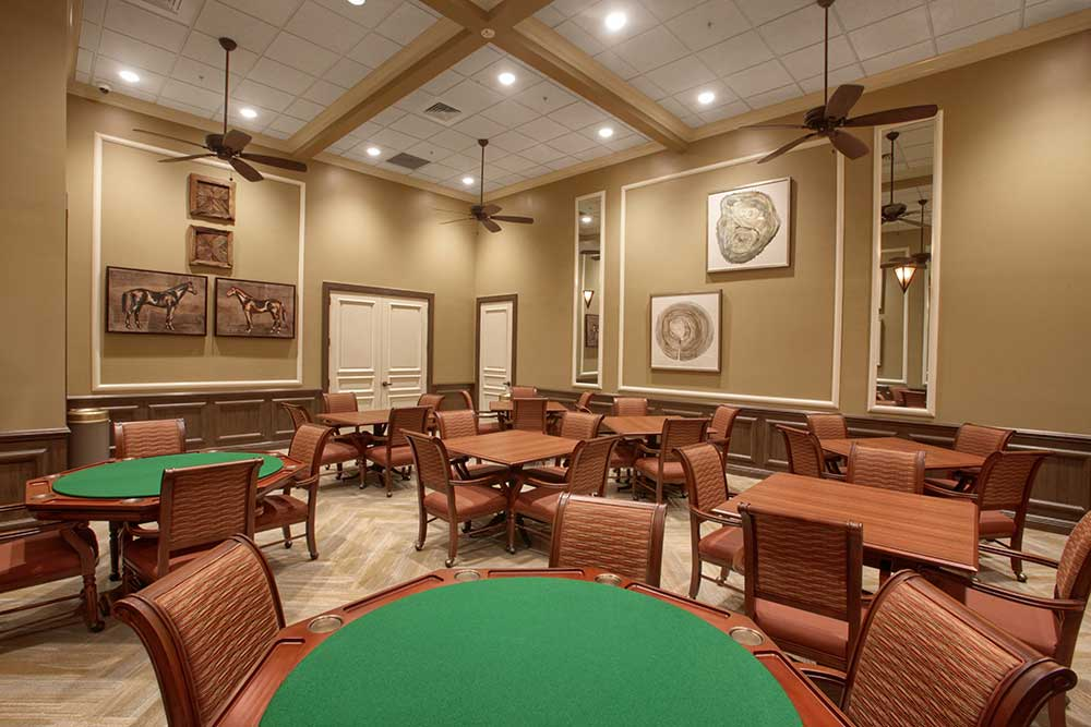 Card Room at The Lodge at Candler Hills On Top of the World Communities Ocala, FL