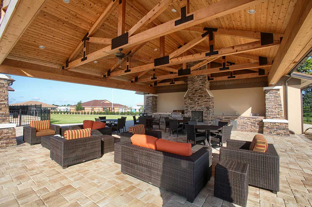 Outdoor Covered Grill at The Lodge at Candler Hills On Top of the World Communities Ocala, FL