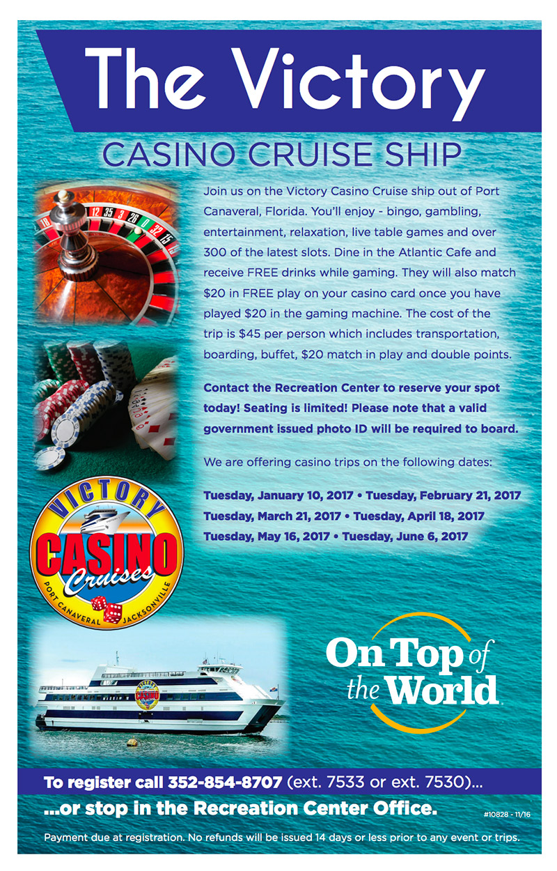 The Victory Casino Cruise Ship On Top Of The World Info