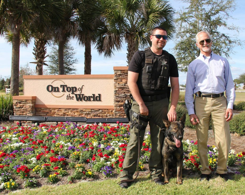 K9 OTOW introduced to Ken Colen of On Top of the World Communities.