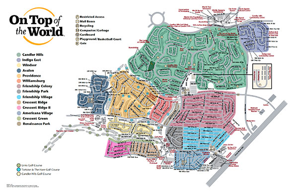 Community Map On Top Of The World Info - Ocala florida map