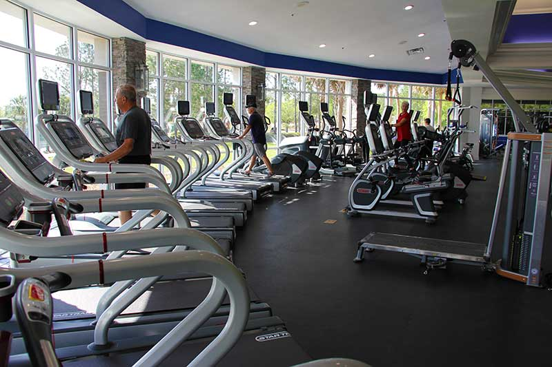 Arbor Fitness Center Workout Fitness Room at On Top of the World Retirement Community Ocala, FL