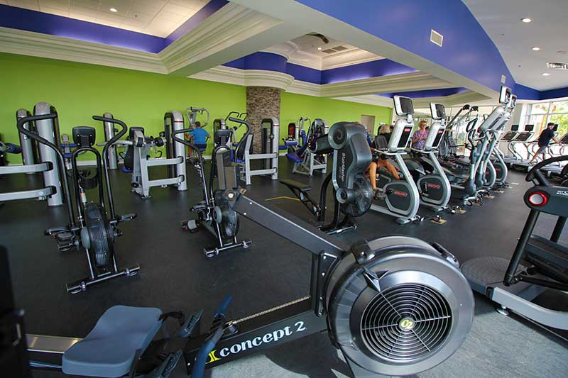 Arbor Fitness Center Workout Fitness Room at On Top of the World Retirement Community Ocala, FL Cycling