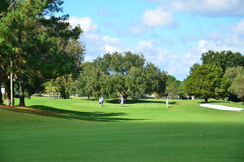 Private golf course at On TOp of the World Retirement Communities Ocala, FL.