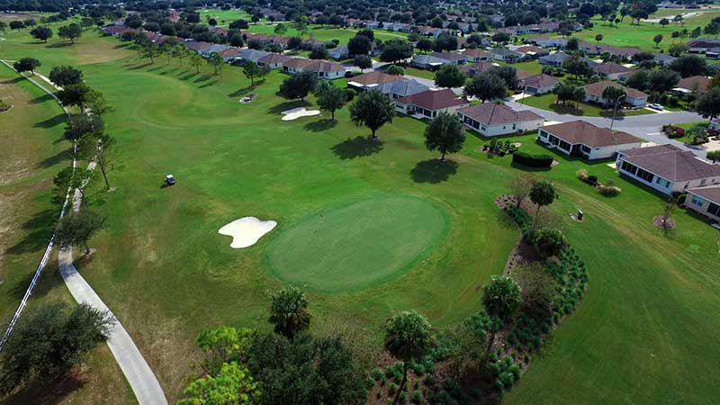 Private golf course at On TOp of the World Communities Golf Community Ocala, FL.