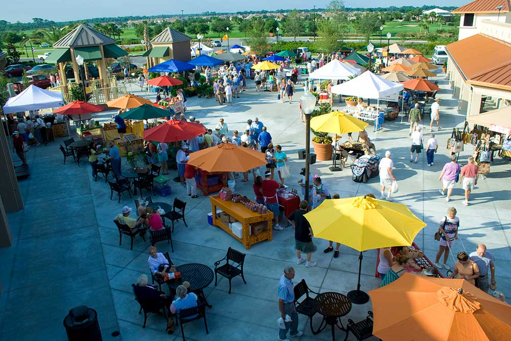 Circle Square Commons Farmers Market at On Top of the World Communities