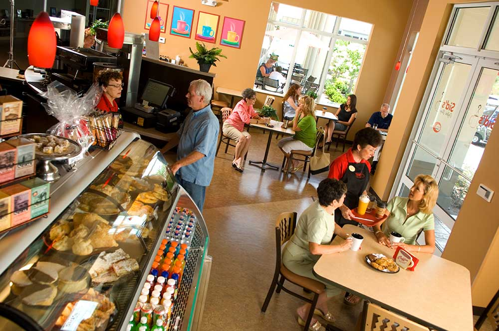 Sid's Coffee Shop & Deli at Circle Square Commons On Top of the World Communities.