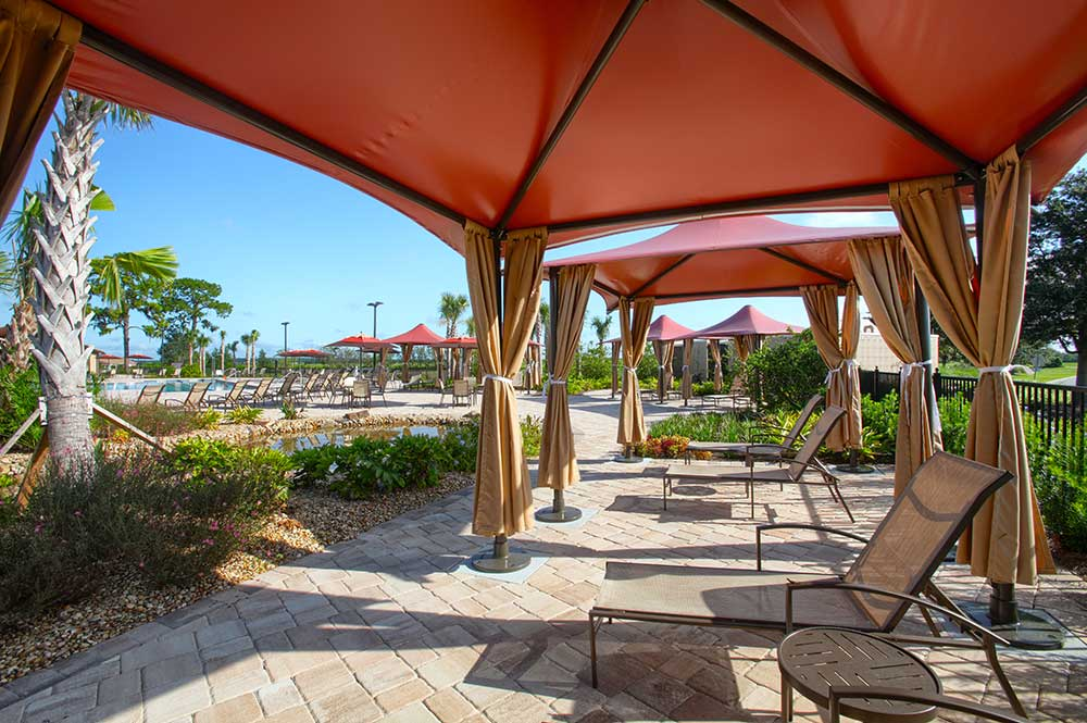 Pool Canopies at The Lodge at Candler Hills On Top of the World Communities Ocala, FL