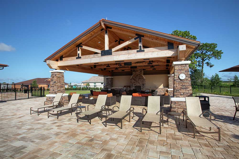 Outdoor Grill at The Lodge at Candler Hills On Top of the World Communities Ocala, FL