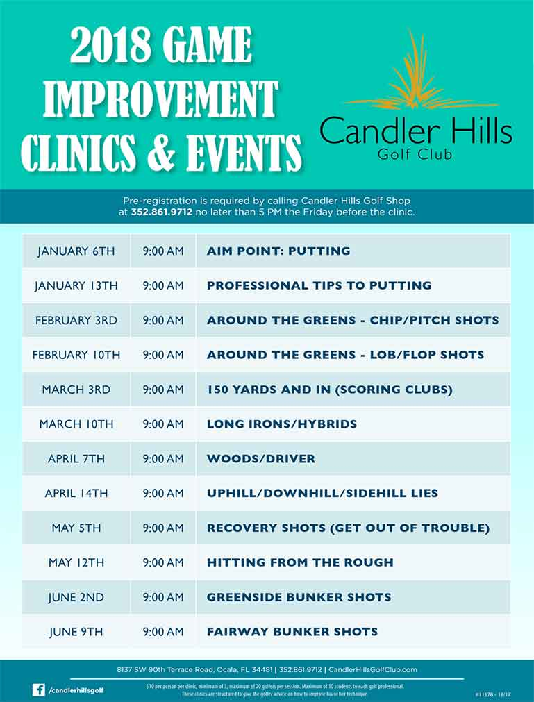 2018 Game Improvement Clinics at Candler Hills Golf Club.