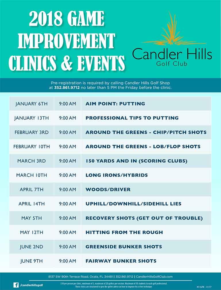 2018 Game Improvement Clinics at Candler Hills Golf Club.