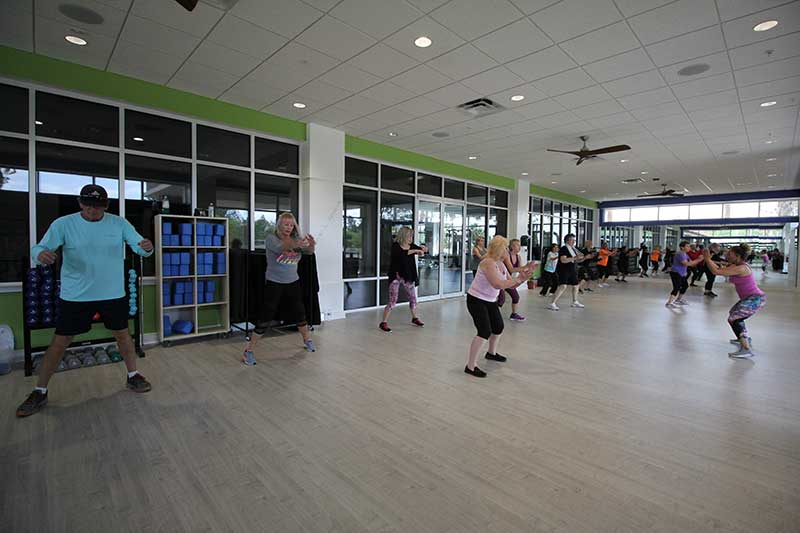 Arbor Fitness Center Group Fitness Room at On Top of the World Retirement Community Ocala, FL