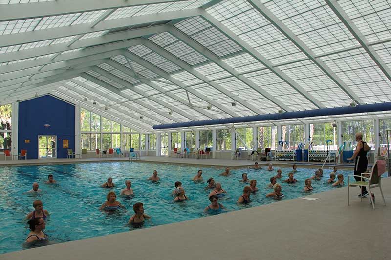 Arbor Fitness Center Indoor Lap Pool Aquatic Aerobics at On Top of the World Retirement Community Ocala, FL