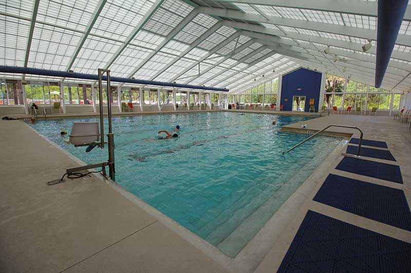 Arbor Fitness Center Indoor Heated Lap Pool at On Top of the World Retirement Community Ocala, FL
