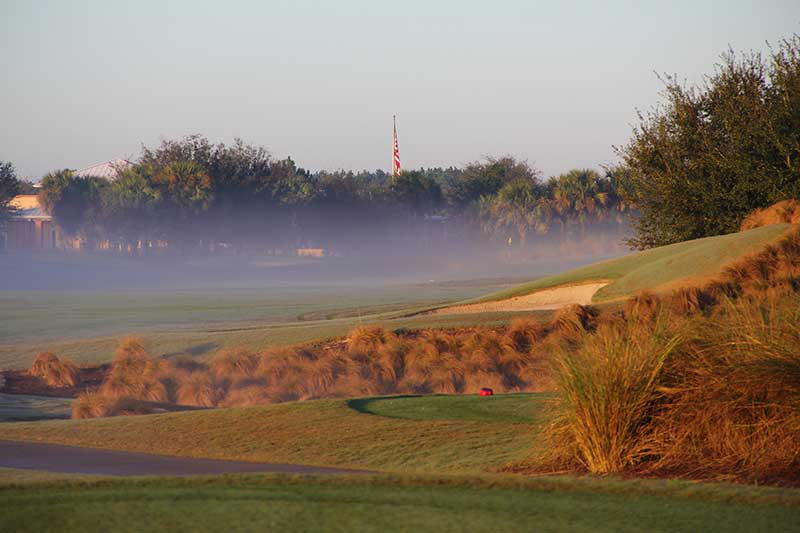 Candler Hills Golf Course at On Top of the World Retirement Community Florida hole 9. Open to the public!