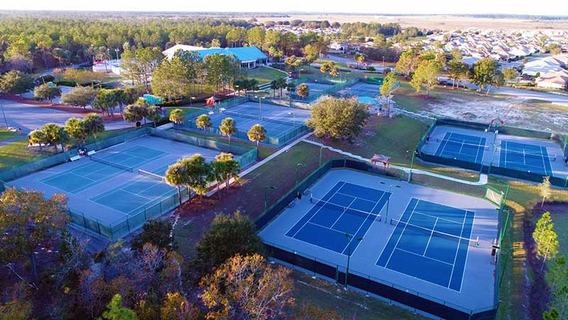 Tennis Courts at On Top of the World Retirement Communities Florida
