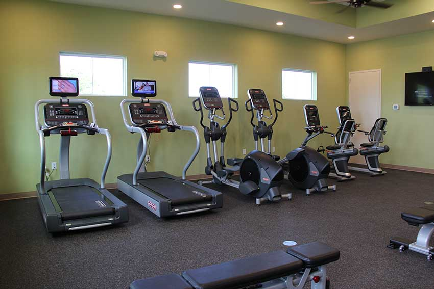 Indigo East Fitness Center equipment at On Top of the World Communities in Ocala, FL