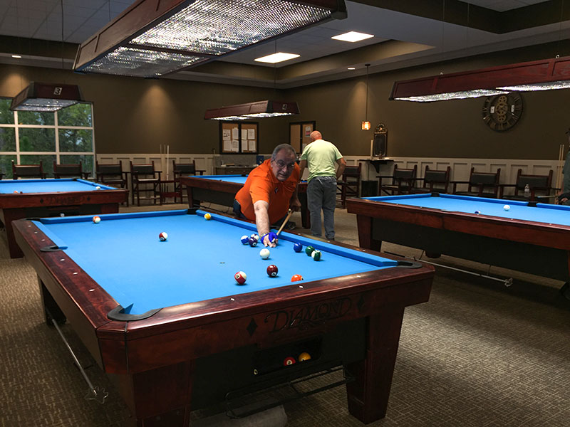 Billiard room at The Arbor Activity Center