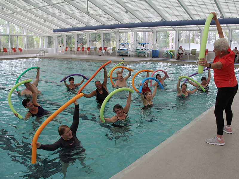 Aqua aerobics at The Arbor Fitness Center