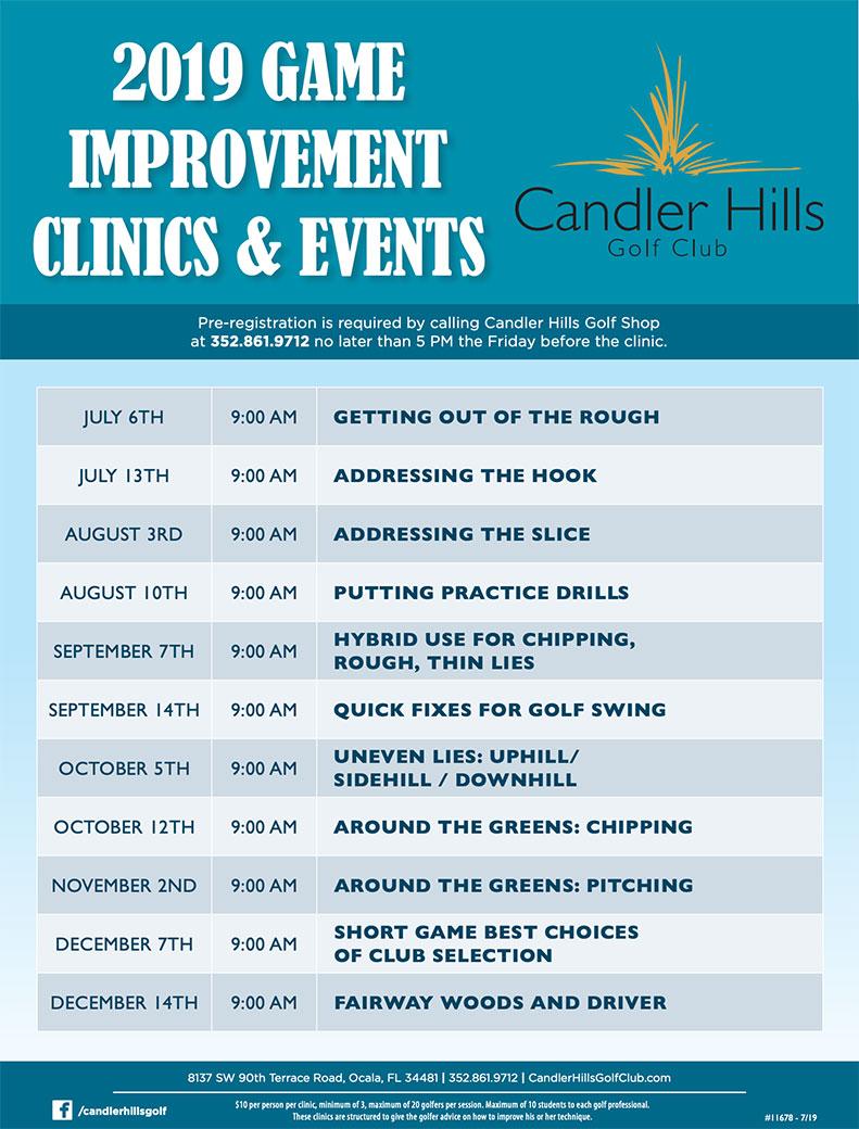 Candler Hills Golf Club Golf Clinics schedule.