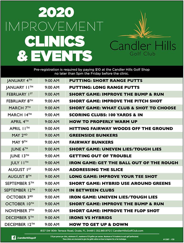 Candler Hills Golf Club 2020 Game Improvement Clinics