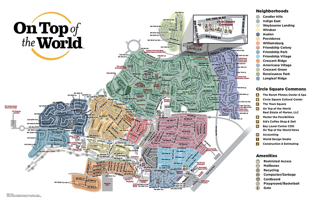On Top of the World Community Ocala Map